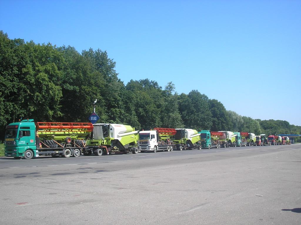 Kombajny Transport